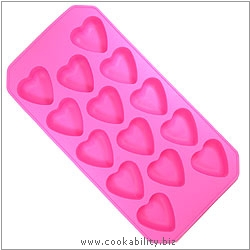 Barcraft Heart Ice Cube Tray. Original product image, © Cookability