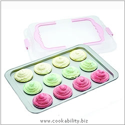 Sweetly Does It Cupcake Tray with Lid. Derived work from original images, © Thomas Plant 2007, used with permission.