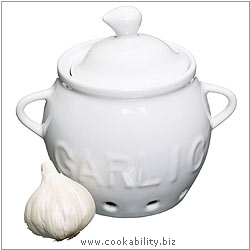 Kitchencraft Ceramic Garlic Keeper. Original product image, © Cookability