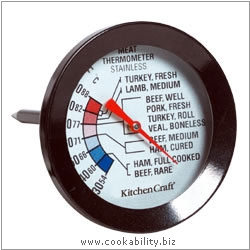 Kitchencraft Meat and Poultry Thermometer. Derived work from original images, © Thomas Plant 2006 and prior, used with permission.