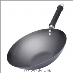 Pure Oriental Non-Stick Steel Wok. Derived work from original images, © Thomas Plant 2006 and prior, used with permission.