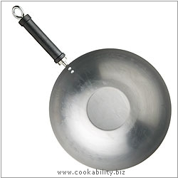 Pure Oriental Plain Steel Wok. Derived work from original images, © Thomas Plant 2006 and prior, used with permission.