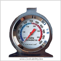 Kitchencraft Oven Thermometer. Derived work from original images, © Thomas Plant 2006 and prior, used with permission.