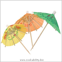 Barcraft Cocktail Umbrellas. Derived work from original images, © Thomas Plant 2006 and prior, used with permission.