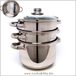 Clearview 3 Piece Steamer Set. Original product image, © Cookability
