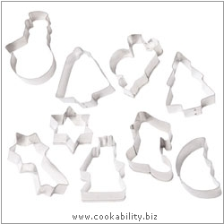 Kitchencraft Christmas Cookie Cutter Set. Derived work from original images, © Thomas Plant 2006 and prior, used with permission.
