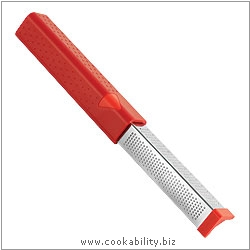 Cooks' Tools Dual Grater Fine Extra Fine Red. Original product image, © Cookability