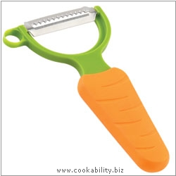 Peelers Julienne Veggie Peeler. Derived work from original images, © Kuhn Rikon (UK) Ltd, used with permission.