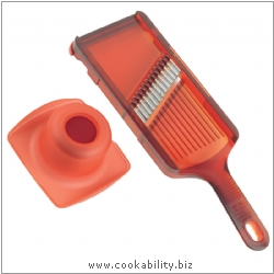 Cooks' Tools Krinkle Mandoline Red. Original product image, © Cookability