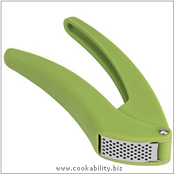 Cooks' Tools Easy Clean Green Garlic Press. Original product image, © Cookability