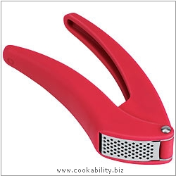 Cooks' Tools Easy Clean Red Garlic Press. Original product image, © Cookability