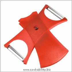 Peelers Design Line Peeler 2in1 Red. Original product image, © Cookability