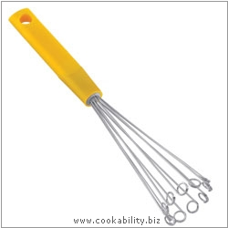Colourful Cooks' Tools Bubble Whisk. Derived work from original images, © Kuhn Rikon (UK) Ltd, used with permission.