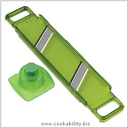 Cooks' Tools Dual Thick and Thin Mandoline Green. Original product image, © Cookability