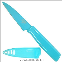 Colori 1 Serrated Aqua Knife. Original product image, © Cookability