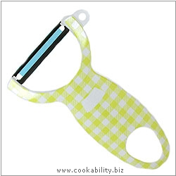Peelers Swiss Gingham Peeler Lime. Original product image, © Cookability
