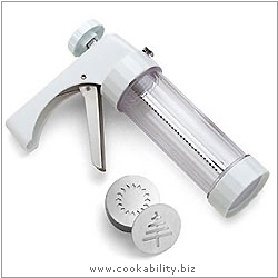 Baking Clear Cookie Press. Derived work from original images, © Kuhn Rikon (UK) Ltd, used with permission.
