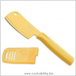 Colori 1 Yellow Mini Cleaver Prep Knife. Original product image, © Cookability