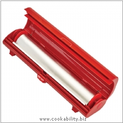 Cooks' Tools Fast Wrap Dispenser Red. Derived work from original images, © Kuhn Rikon (UK) Ltd, used with permission.