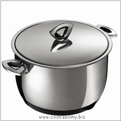 Durotherm Chrome Stew Pot. Derived work from original images, © Kuhn Rikon (UK) Ltd, used with permission.