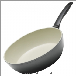 Easy Ceramic Frying Pan High Walled. Derived work from original images, © Kuhn Rikon (UK) Ltd, used with permission.