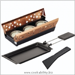 Table Cooking Copper Mini Raclette. Derived work from original images, © Kuhn Rikon (UK) Ltd, used with permission.