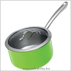 Colori Saucepan Green. Derived work from original images, © Kuhn Rikon (UK) Ltd, used with permission.