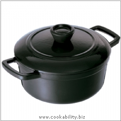 Vitrifeu Round Casserole Black. Derived work from original images, © Kuhn Rikon (UK) Ltd, used with permission.