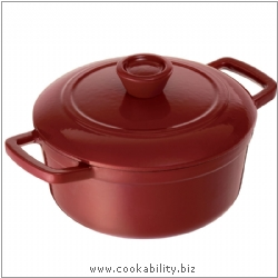 Vitrifeu Round Casserole Red. Derived work from original images, © Kuhn Rikon (UK) Ltd, used with permission.