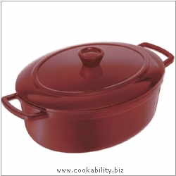 Vitrifeu Oval Casserole Red. Derived work from original images, © Kuhn Rikon (UK) Ltd, used with permission.