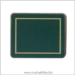 Melamine Coasters Green. Original product image, © Cookability