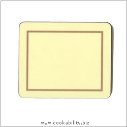 Melamine Coasters Cream. Original product image, © Cookability