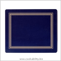 Melamine Tablemat Blue. Original product image, © Cookability