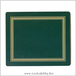 Melamine Tablemat Green. Original product image, © Cookability