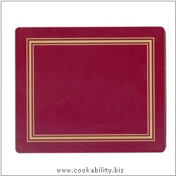 Melamine Tablemat  Red. Original product image, © Cookability