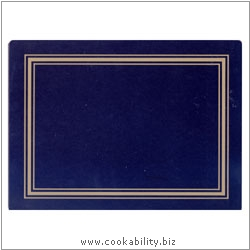 Melamine Placemat Blue. Original product image, © Cookability