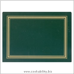 Melamine Placemat Green. Original product image, © Cookability