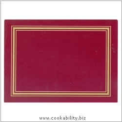 Melamine Placemat Red. Original product image, © Cookability