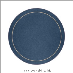 Melamine Tablemat Round Blue. Original product image, © Cookability