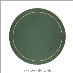 Melamine Tablemat Round Green. Original product image, © Cookability