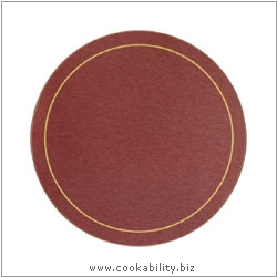 Melamine Tablemat Round Red. Original product image, © Cookability