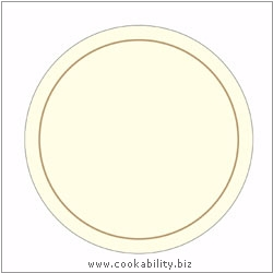 Melamine Tablemat Round Cream. Original product image, © Cookability