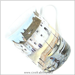 Cookability Cornish Coast Mug. Original product image, © Cookability