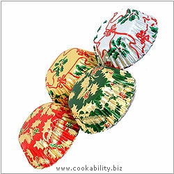 Foilcraft Christmas Bun Cases. Original product image, © Cookability