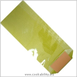 Cookability Cello Bags Lime. Original product image, © Cookability