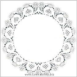 Easybake White Lace Doyleys. Original product image, © Cookability