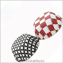 Easybake Chequered Bun Cases. Original product image, © Cookability
