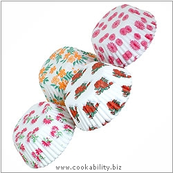 Easybake Floral Bun Cases. Original product image, © Cookability