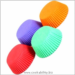 Easybake Rainbow Bun Cases. Original product image, © Cookability