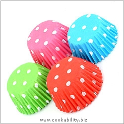 Easybake Polka Dot Sweet Cases. Original product image, © Cookability